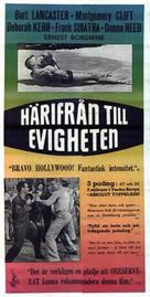 From Here to Eternity - Swedish Movie Poster (xs thumbnail)