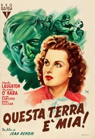 This Land Is Mine - Italian Movie Poster (xs thumbnail)