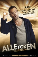 Alle for én - Danish Movie Poster (xs thumbnail)