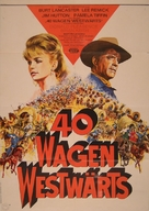 The Hallelujah Trail - German Movie Poster (xs thumbnail)