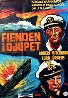 The Enemy Below - Swedish Movie Poster (xs thumbnail)
