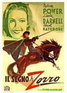 The Mark of Zorro - Italian Movie Poster (xs thumbnail)