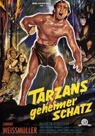 Tarzan's Secret Treasure - German Movie Poster (xs thumbnail)
