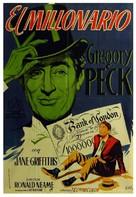 The Million Pound Note - Spanish Movie Poster (xs thumbnail)