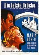 Die letzte Brücke - German Movie Poster (xs thumbnail)