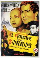 Prince of Foxes - Spanish Movie Poster (xs thumbnail)