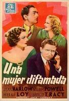 Libeled Lady - Spanish Movie Poster (xs thumbnail)