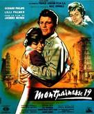 Amants de Montparnasse (Montparnasse 19), Les - French Movie Poster (xs thumbnail)