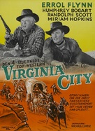 Virginia City - Danish Movie Poster (xs thumbnail)