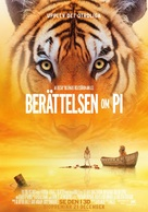 Life of Pi - Swedish Movie Poster (xs thumbnail)