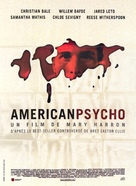 American Psycho - French Movie Poster (xs thumbnail)