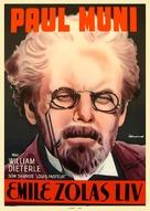 The Life of Emile Zola - Swedish Movie Poster (xs thumbnail)