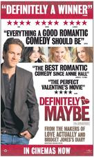 Definitely, Maybe - British Movie Poster (xs thumbnail)