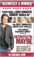 Definitely, Maybe - British Movie Poster (xs thumbnail)