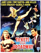 Two Tickets to Broadway - Belgian Movie Poster (xs thumbnail)