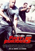 Fast Five - Spanish Movie Poster (xs thumbnail)