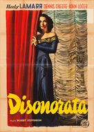 Dishonored Lady - Italian Movie Poster (xs thumbnail)