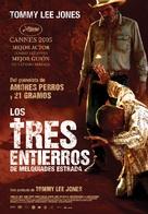 The Three Burials of Melquiades Estrada - Spanish Movie Poster (xs thumbnail)