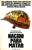 Full Metal Jacket - Argentinian VHS cover (xs thumbnail)
