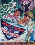 Abbott and Costello Meet the Invisible Man - Belgian Movie Poster (xs thumbnail)