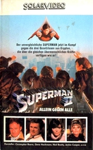 Superman II - German VHS movie cover (xs thumbnail)