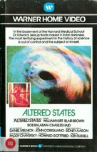 Altered States - British VHS movie cover (xs thumbnail)