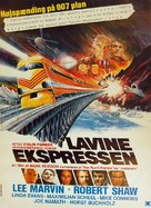 Avalanche Express - Danish Movie Poster (xs thumbnail)