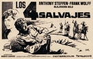 Cuatro salvajes, Los - Spanish poster (xs thumbnail)