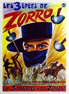 Le tre spade di Zorro - Belgian Movie Poster (xs thumbnail)