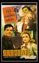 Saboteur - Spanish Movie Poster (xs thumbnail)