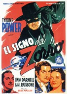 The Mark of Zorro - Spanish Movie Poster (xs thumbnail)