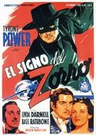 The Mark of Zorro - Spanish Movie Poster (xs thumbnail)