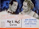 Mr. & Mrs. Smith - British poster (xs thumbnail)