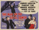 The Man on the Eiffel Tower - British Movie Poster (xs thumbnail)