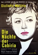 Le notti di Cabiria - German Movie Poster (xs thumbnail)