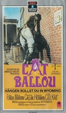Cat Ballou - German VHS movie cover (xs thumbnail)