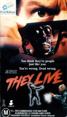 They Live - Australian VHS movie cover (xs thumbnail)