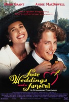 Four Weddings and a Funeral - Movie Poster (xs thumbnail)