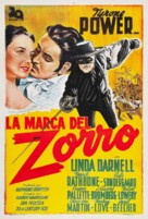 The Mark of Zorro - Argentinian Movie Poster (xs thumbnail)