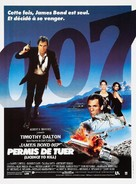Licence To Kill - French Movie Poster (xs thumbnail)