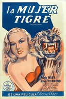 The Tiger Woman - Argentinian Movie Poster (xs thumbnail)
