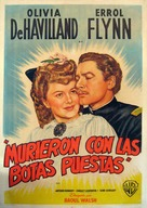 They Died with Their Boots On - Argentinian Movie Poster (xs thumbnail)