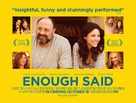 Enough Said - British Movie Poster (xs thumbnail)
