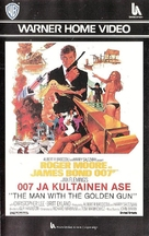 The Man With The Golden Gun - Finnish VHS cover (xs thumbnail)