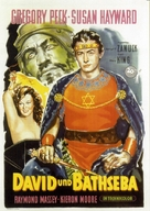 David and Bathsheba - German Movie Poster (xs thumbnail)