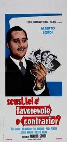 Scusi, lei è favorevole o contrario? - Italian Movie Poster (xs thumbnail)