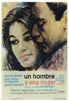 Un homme et une femme - Spanish Movie Poster (xs thumbnail)