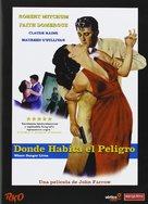 Where Danger Lives - Spanish DVD cover (xs thumbnail)