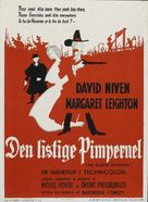 The Elusive Pimpernel - Danish Movie Poster (xs thumbnail)