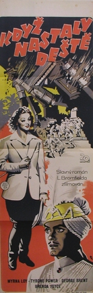 The Rains Came - Czech Movie Poster (xs thumbnail)